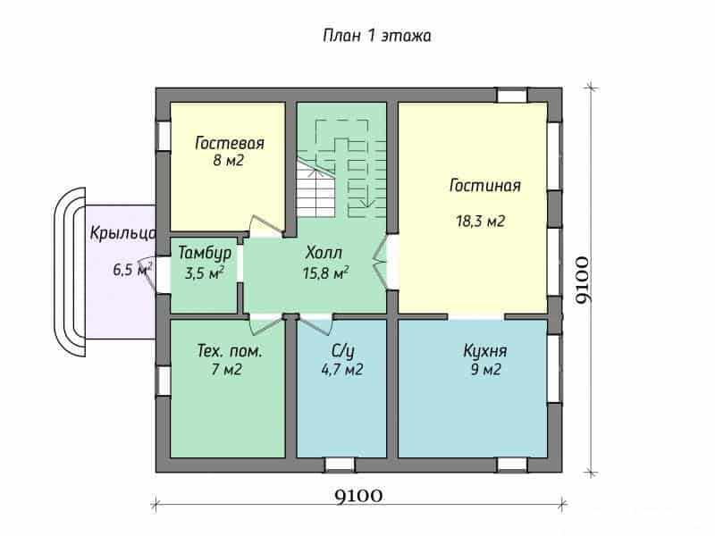 Дом из газобетона в д. Мухоловка 2014 год