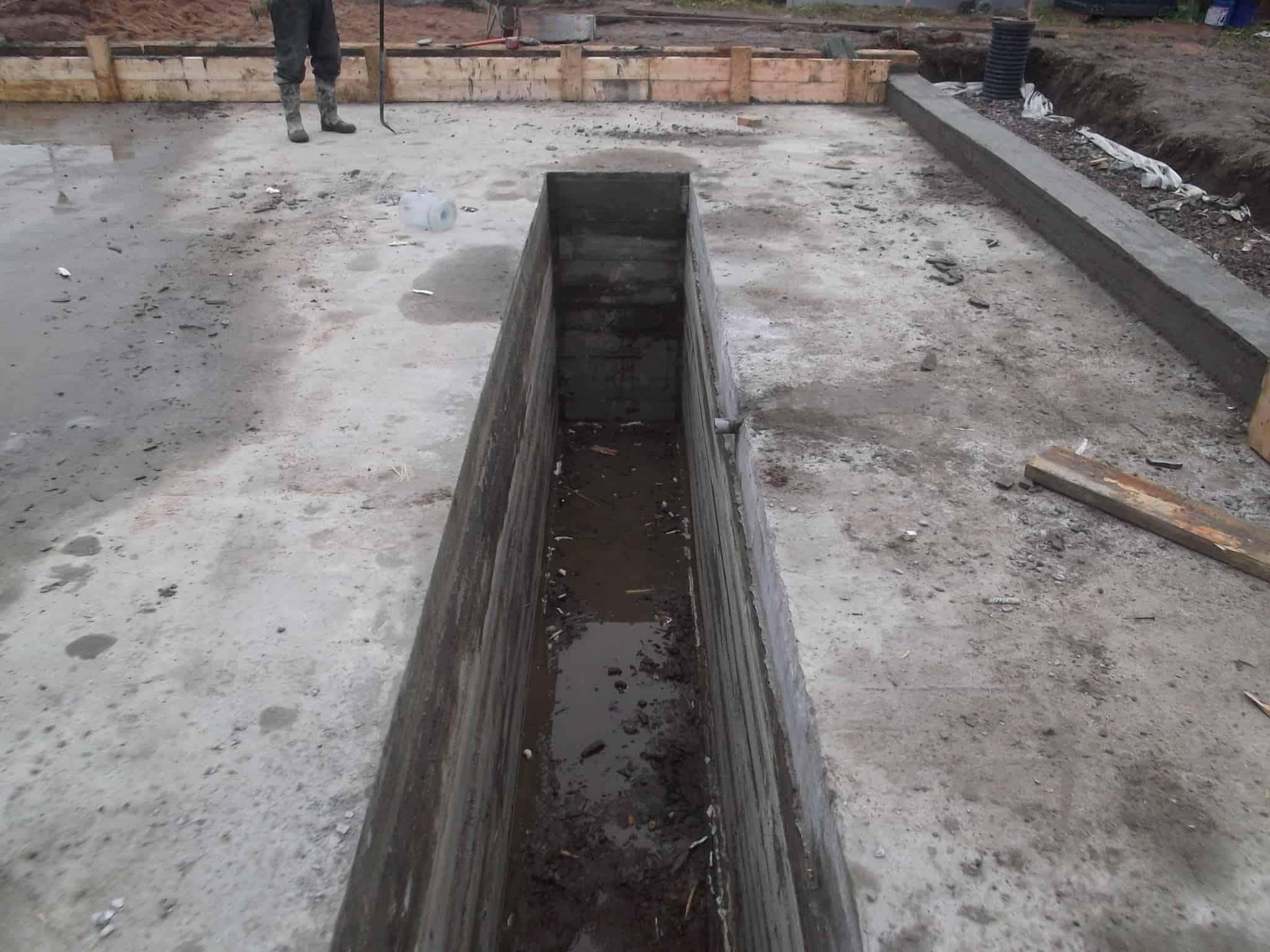 Строительство гаража из газобетона в посёлке «Коробицыно»
