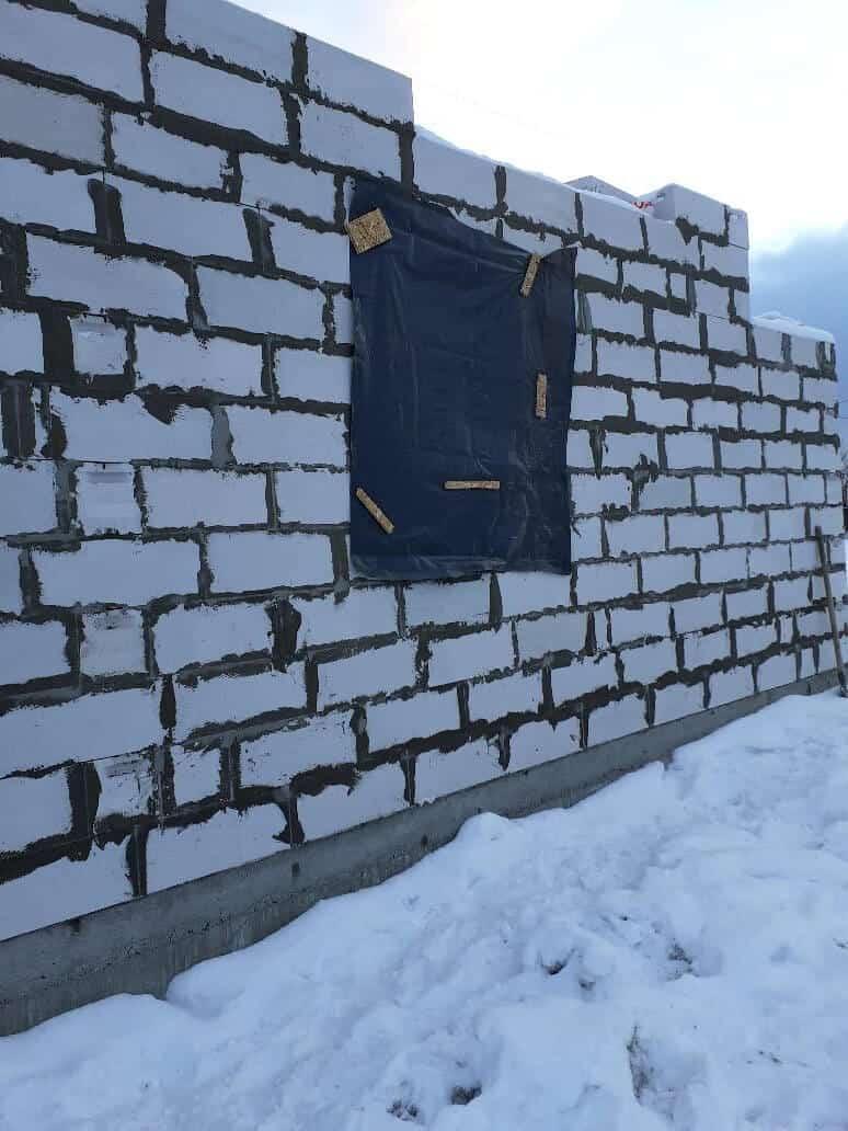 Строительство дома из газобетона в д. «Коммунар»