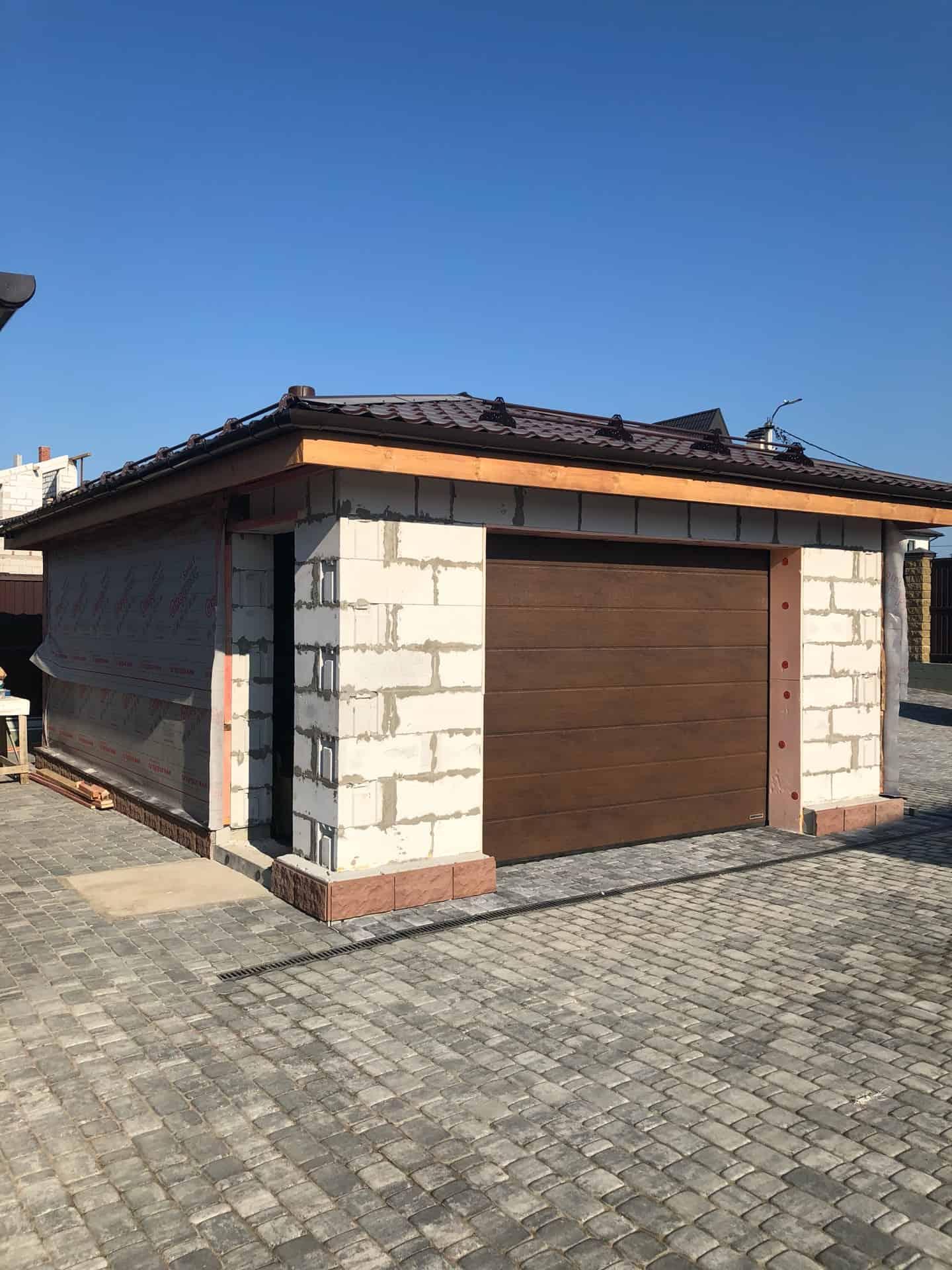 Строительство гаража из газобетона во Всеволожске