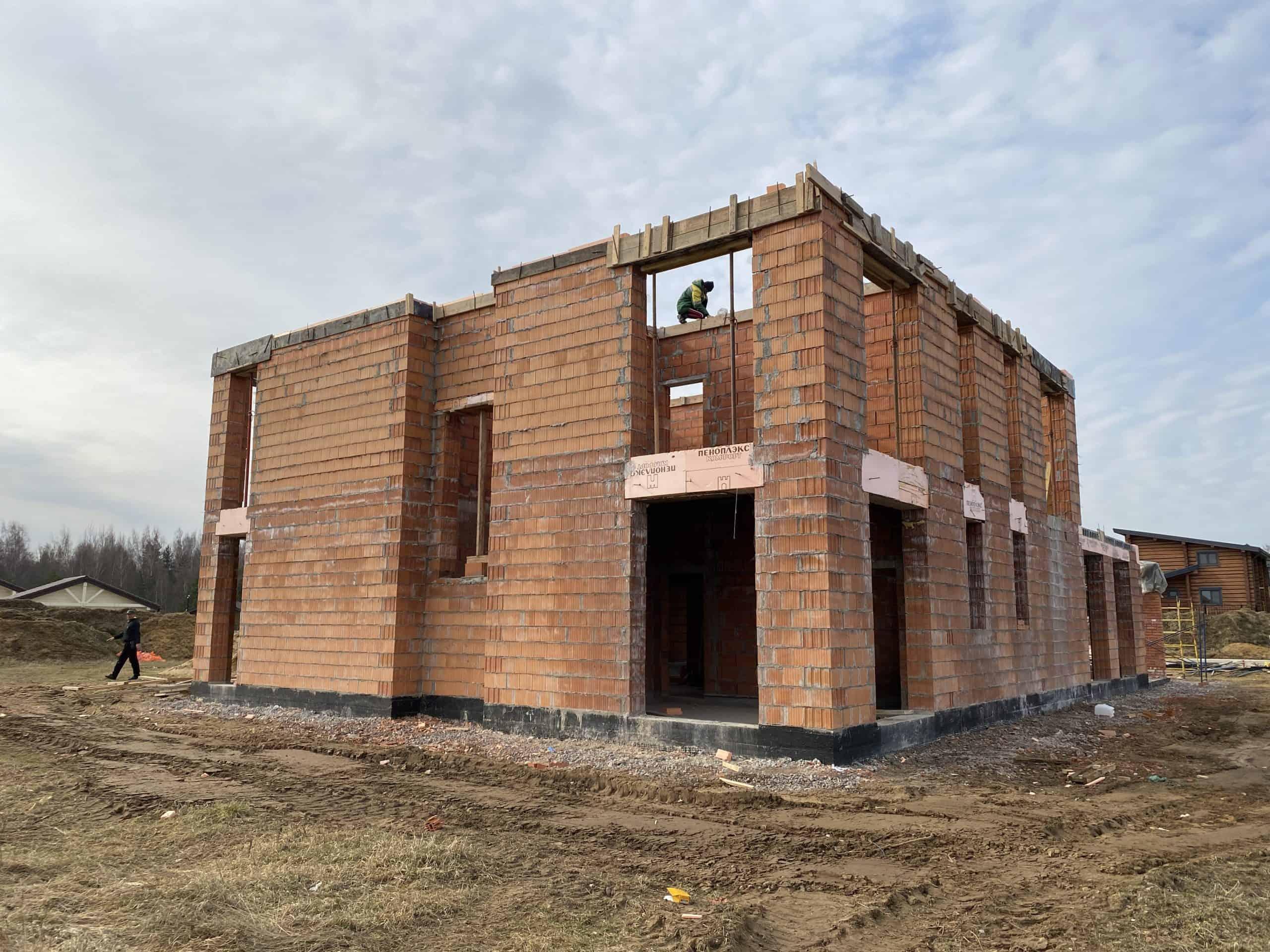 Дом из газобетона на плите в д. «Старая Пустошь»