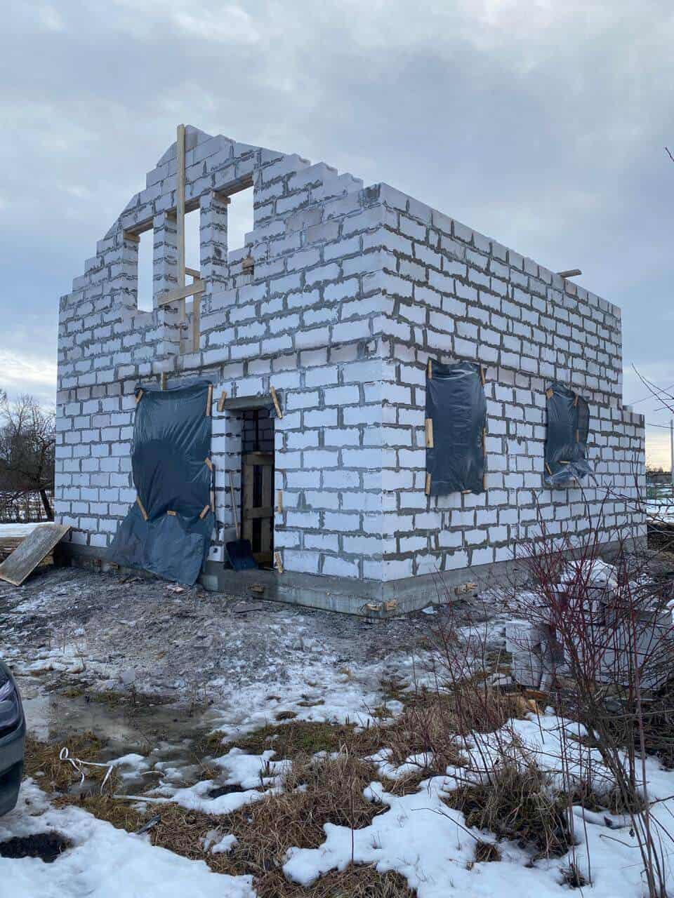 """Дом из газобетона в д. """"Коммунар"""""""